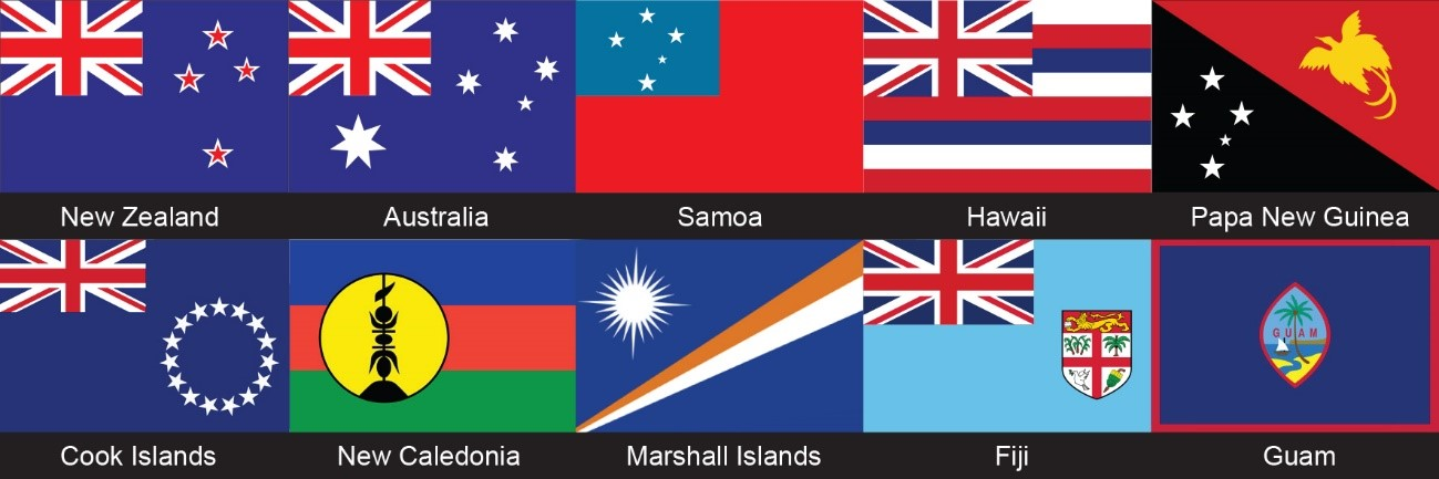 Oceania Championships flags