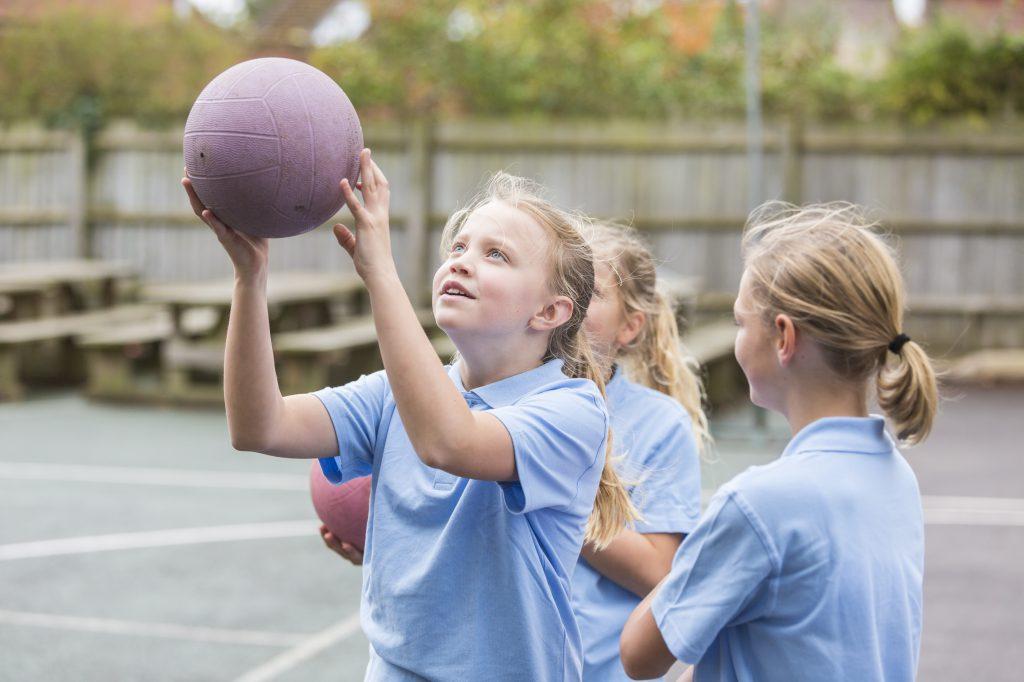 School Yard Netball Sport Girls
