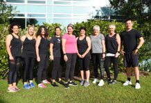 A picture of the running group outside AUT Millennium Gym.